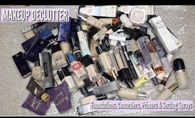HUGE MAKEUP DECLUTTER - Foundations, Concealers, Primers & Setting Sprays!
