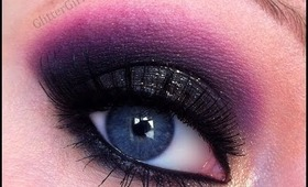 Prom Makeup Tutorial - Sparkly black smokey eye