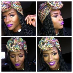 Recipe: MAC Heroine, Maybelline Brazen Berry, LA Colors liner Violet, Revlon Lip gloss in #200