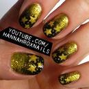 Golden Stardust Nails