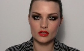Crystal Renn shoot make-up tutorial