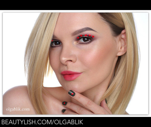 Valentine S Day Makeup Tutorial Heart Eyelashes Olga B S
