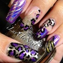 Holographic Animal Print Nail Design