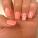 Pink nails, faded flower