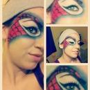 Spider-Man Mask Makeup Look
