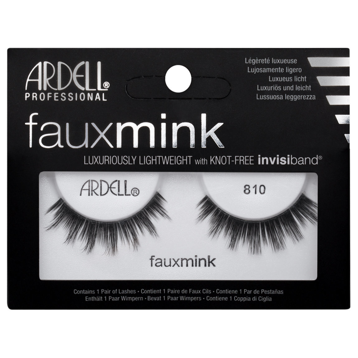 Ardell Faux Mink Lashes 810 Black alternative view 1.