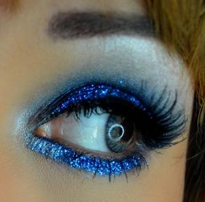 La splash glitter in blue Wet n wild pallet  jeans i believe ...