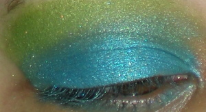 Eyes: Geek Chic Cosmetics Blue and Green EOTD