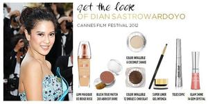 Billy B created this look for Dian Sastrowa for the Red Carpet at the 2012 Cannes Film Festival. All makeup by L'oreal