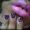 Pink Polka Dots n' Pink lips