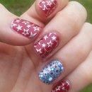 July 4th Nail Stamping