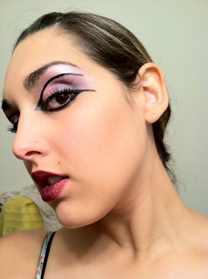 The makeup I did for my role as Third Lady in Mozart's The Magic Flute