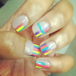Got a little stripe crazy but this reminds me of a box of crayons...just so fun!