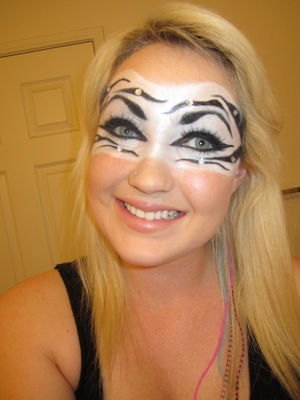 Zebra mask for a party!