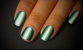 Striped Gradient Nail Art