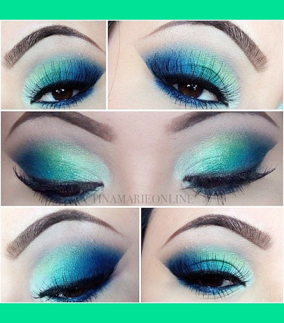 Blue And Green Spring Makeup Tina Marie C S