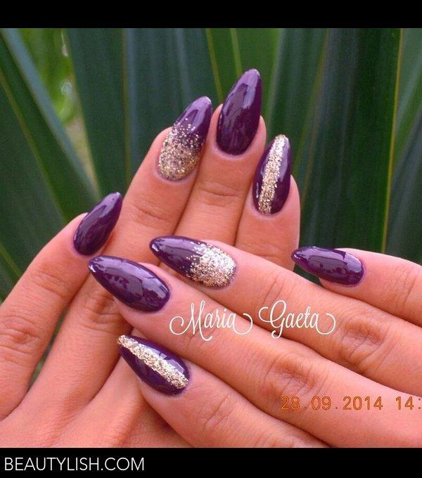 Violet Nailspurple Nailsgold Nailsnail Artlong Nailsstiletto