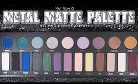 l 🌹 l Kat Von D Metal Matte Palette l 🌹 l Review + Brush Swatches of all 22 Shades!