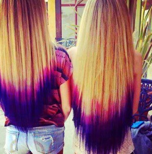 blonde/purple/pink