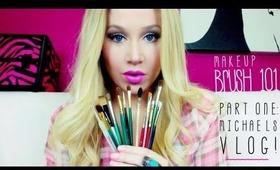 Makeup Brush 101 - Part 1: The Basics, My Art Store Brushes + Michaels VLOG!