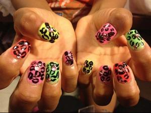 My leopard print nails :)