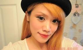 Ena Matsumoto 松本恵奈 ギャルメーク (Emoda) Mode Gyaru inspired eye make up tutorial