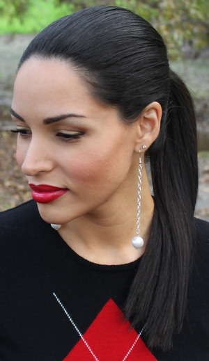 Easy sleek ponytail for dressy occasions. http://thedressychick.com