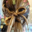 Braid+bow+ponytail=cute