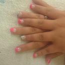 Acrylic Pink And Zebra