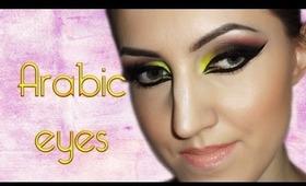 Arabic makeup (bright, neon colors)
