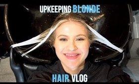 UPKEEPING BLONDE HAIR VLOG! 😃| Milabu
