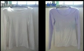 DIY! Do it yourself. How I ombre dipdye my tshirt using a spray bottle!