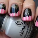Taped Hot Pink Stripes
