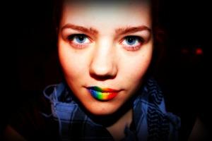 Rainbow lips i made a few days ago