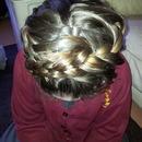 My little cousins hair for school