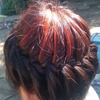 never ending bun on my sis hair