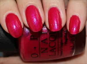 This is from the OPI Vintage Minnie Mouse Collection! See my swatches & review here: http://www.swatchandlearn.com/opi-im-all-ears-swatches-review/