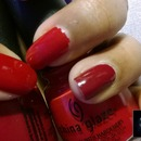 China Glaze: City Siren + China Glaze: China Rouge