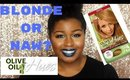 I WENT BLONDE!? | ORS Olive Oil Hues Review