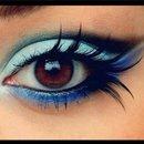 My peacock inspired eye look