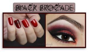 Corresponding nail art and eye makeup