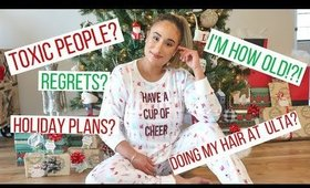 HOLIDAY VLOG: WRAP GIFTS WITH ME AND PERSONAL Q&A   Sam Bee Beauty