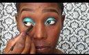 Bright ocean Blue makeup tutorial