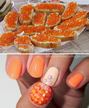 Inspired by my favorite common Russian food :)) Nail polishes and rhinestones from www.BornPrettyStore.com 10% off coupon: Maryam5w21