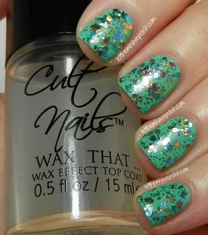 Wax finish top coat over KBShimmer Pastel Me More and Inglot O2M 688 i think
