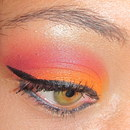 Orange and Cranberry Colorblocked Eyes