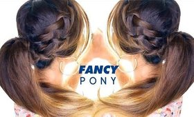 AWESOME French BRAID Ponytail Hairstyle★ Waterfall Braid Hairstyles