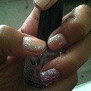 Naked Glitter Nail