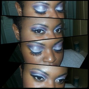 Look created using the coastal scents 120 5th edition eyeshadow palette.