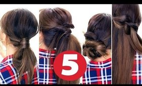 5 Easy LAZY HAIRSTYLES ★   Everyday Hairstyle for Long Medium Hair
